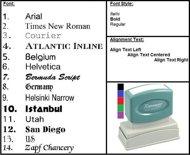 Custom 6 Line Rectangular Xstamper Pre Inked Stamp