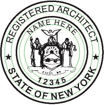 new york hand held architect seal embosser notary bonding