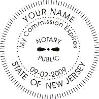 New Jersey Official Stamp Seal Round Available In Rubber