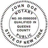 New York Official Stamp Seal Round Available In Self Inking
