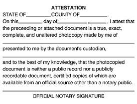 notary statement