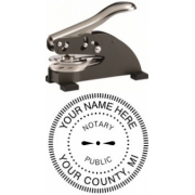 Michigan Notary Impression Seal Embosser