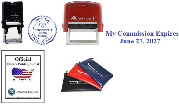 2 Self Inking Rect Commission Exp Date Stamp 5000 Imp 3 Official Notary Public Journal Soft Cover