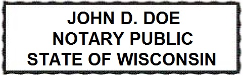 Wisconsin Rectangular Official Seal Stamp